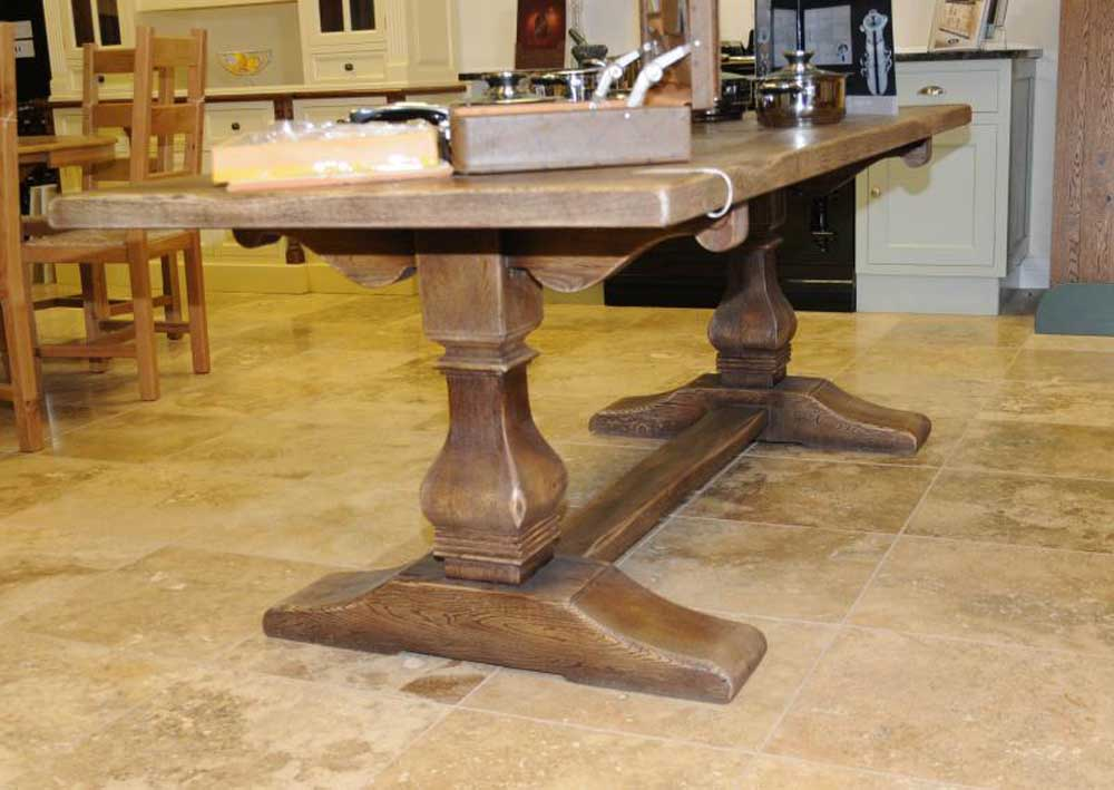 Oak Country Tavern Farmhouse Trestle Table Refectory