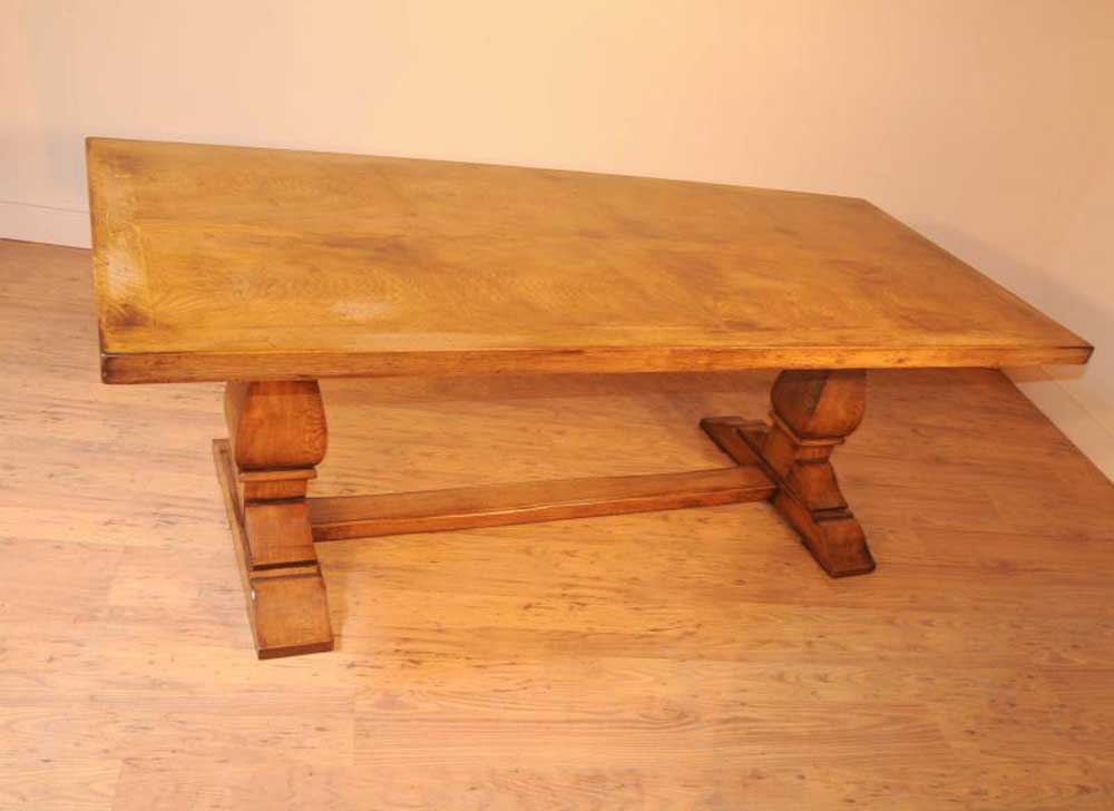 Oak farmhouse refectory table kitchen dining tables rustic for Dining tables rustic farmhouse