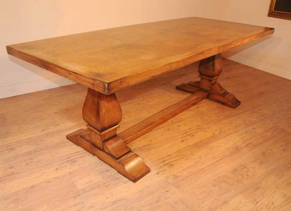 Oak Farmhouse Refectory Table Kitchen Dining Tables Rustic