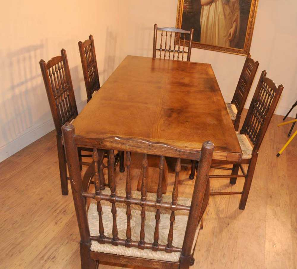Kitchen Chairs Ireland: Oak Kitchen Diner Chair Set Refectory Table And