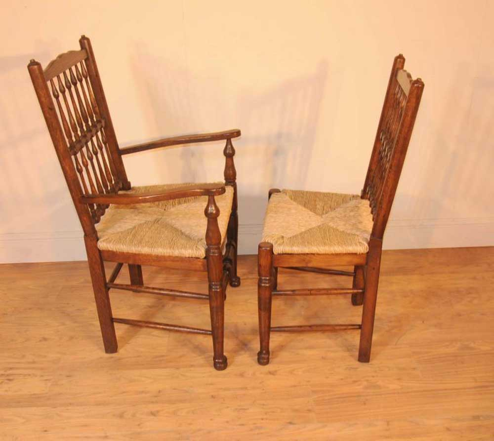 Oak Kitchen Tables And Chairs Sets: Oak Kitchen Diner Chair Set Refectory Table And