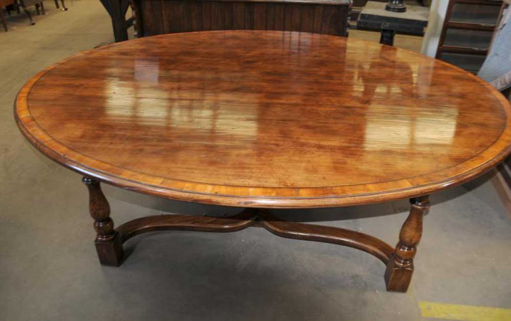 oak kitchen table oak oval top refectory dining ebay