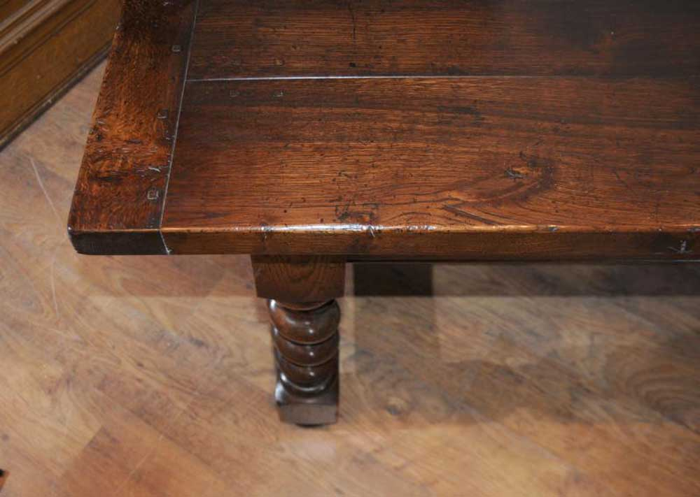 English Rustic Oak Refectory Table Barley Twist Legs Ebay