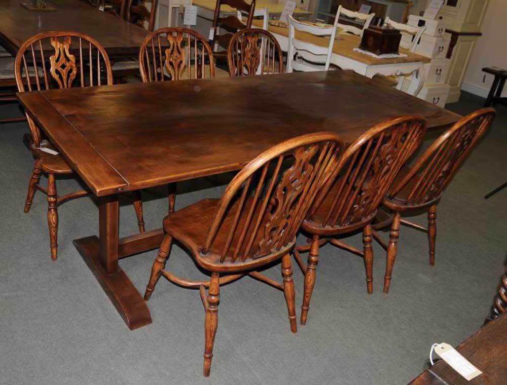 Oak Refectory Table Kitchen Dining Furniture Trestle Tables : oak refectory table kitchen dining furniture trestle tables 1352349035 product 7 from canonburyantiques.com size 1000 x 760 jpeg 95kB