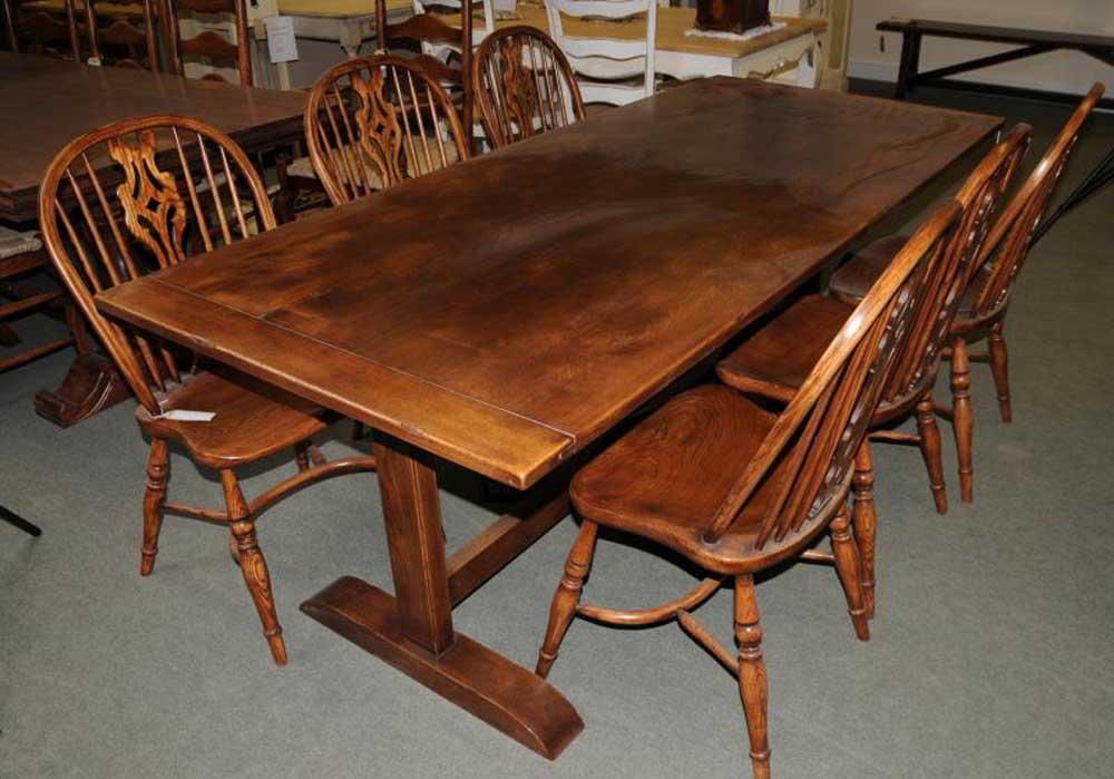 Oak Refectory Table Kitchen Dining Furniture Trestle Tables : oak refectory table kitchen dining furniture trestle tables 1352349035 product 8 from canonburyantiques.com size 1000 x 699 jpeg 87kB