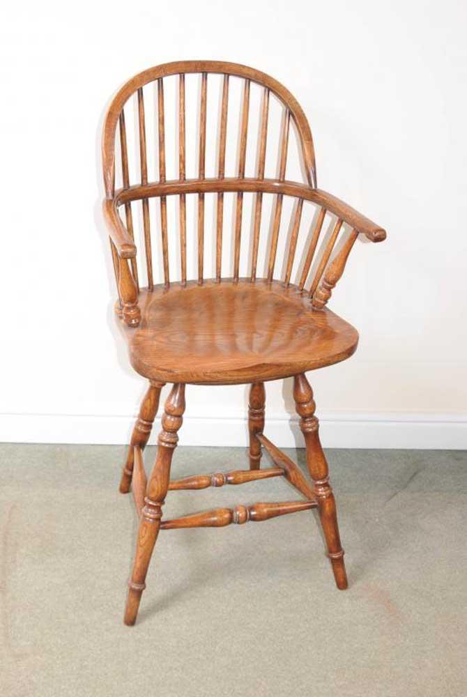 Oak Windsor Bar Stool Chair Windsor Chairs Farmhouse Ebay
