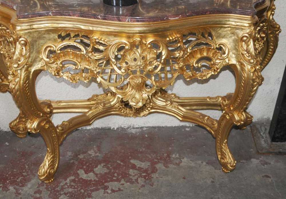 Ornate french rococo console table mirror set - Ornate hall table ...