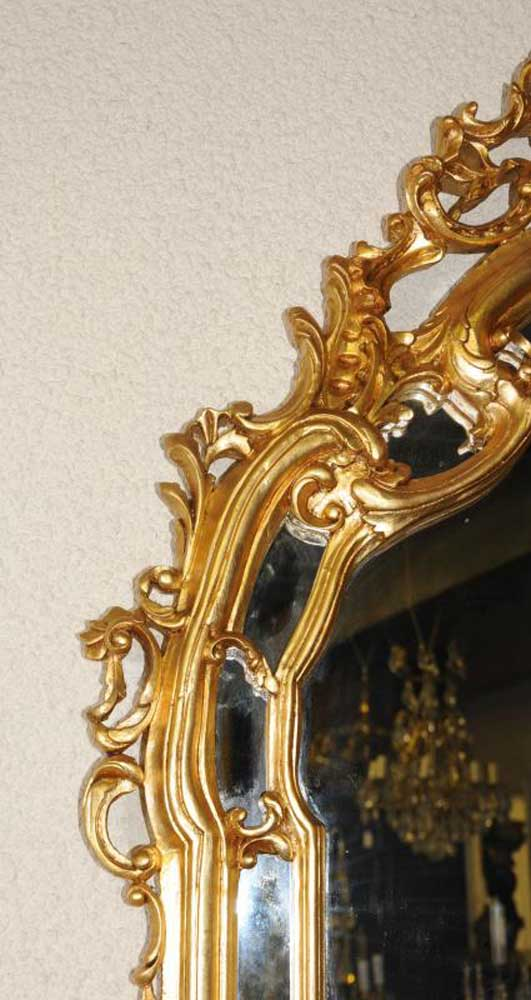 Ornate French Rococo Console Table Mirror Set