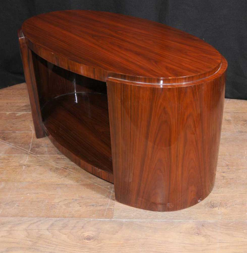 Oval Art Deco Rosewood Coffee Table Cocktail Tables Ebay