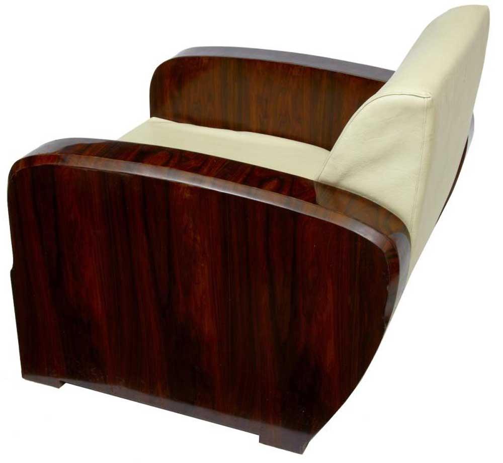 pair art deco 1920s club arm chairs sofa seats armchair. Black Bedroom Furniture Sets. Home Design Ideas