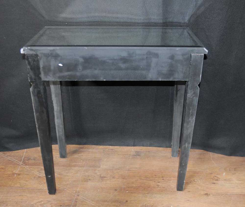 pair art deco mirror side tables mirrored occasional table f