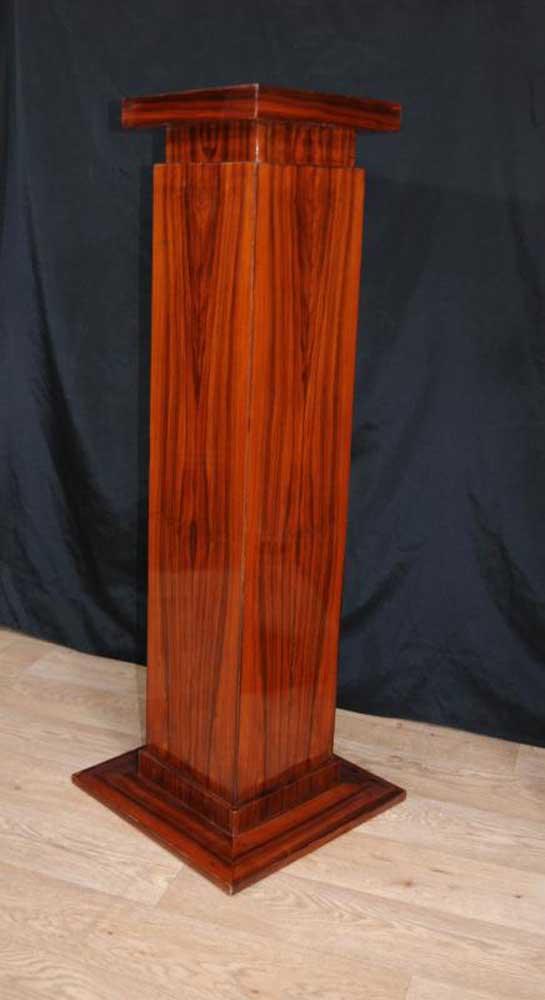 Pair Art Deco Pedestal Column Tables Table 1920s Furniture
