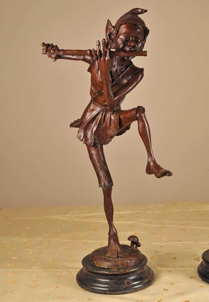 Joe For Oil >> Pair Celtic Goblin Bronze Pixie Statues Pixies