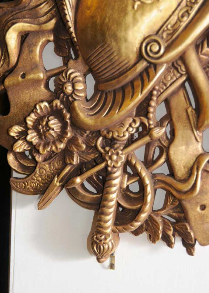 Pair French Gilt Carved Heraldic Wall Display Heraldry