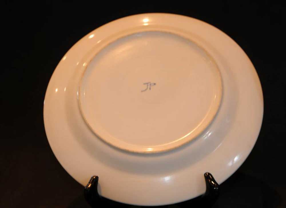 pair french limoges porcelain roman plates dishes. Black Bedroom Furniture Sets. Home Design Ideas