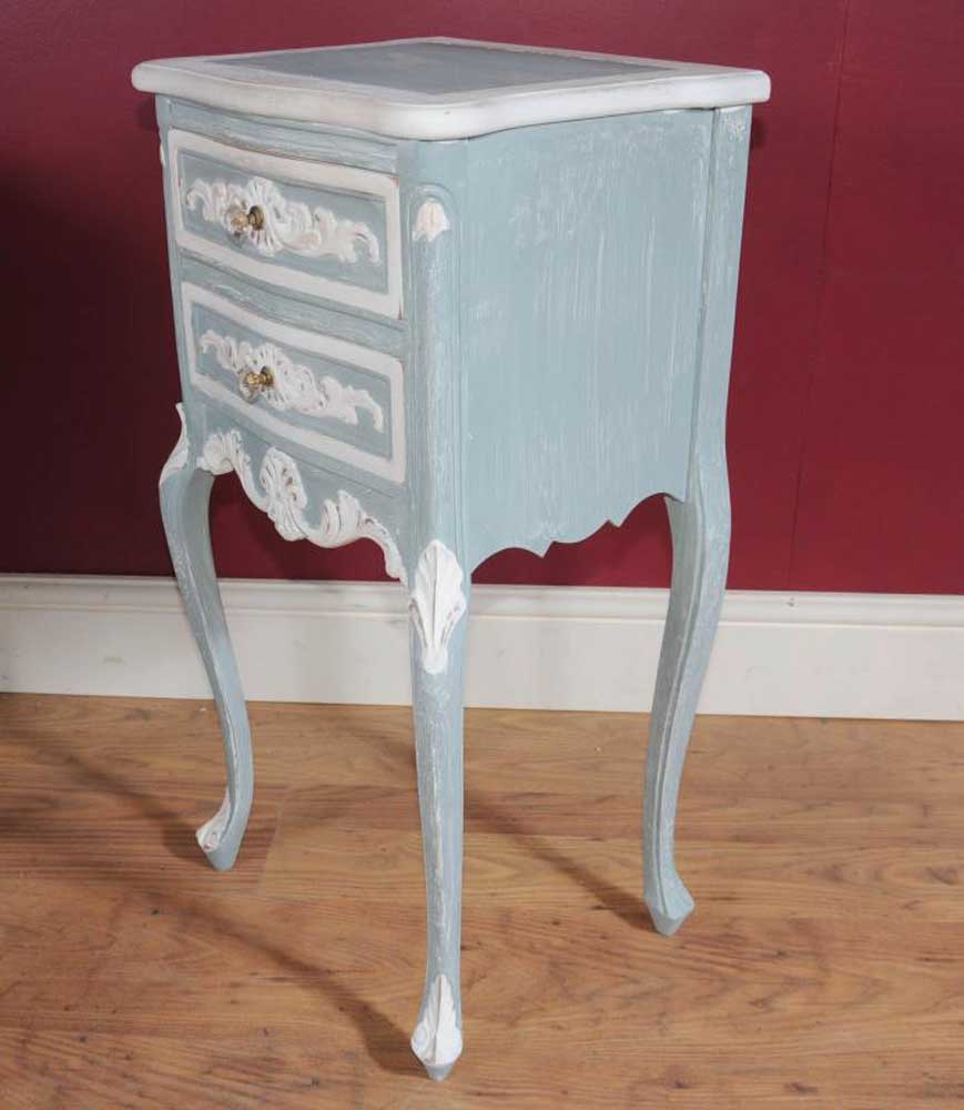 Pair French Louis Xv Painted Bedside Tables Chests