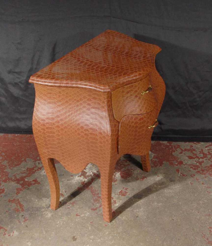 Pair funky snakeskin bedside table chests for Funky bedside tables