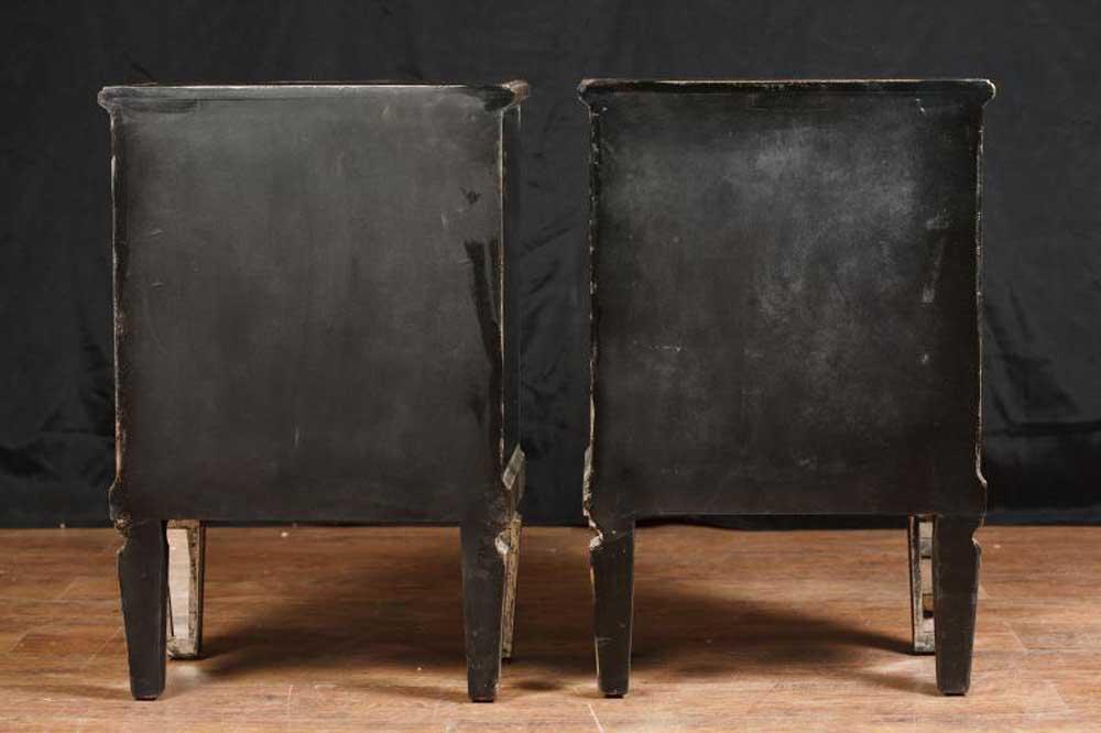 pair mirror nightstands deco mirrored bedside chests furnitu