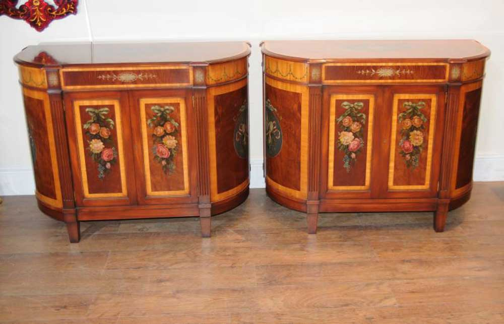 pair regency sheraton sideboards chests cabinets servers rh canonburyantiques com Accent Cabinets with Drawers chests and cabinets