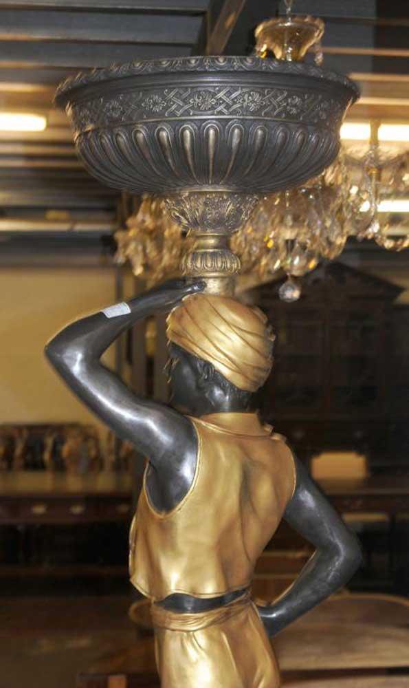 Pair of 38 Josephine Mead blackamoor statues polychrome