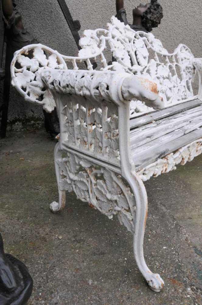 Pair Victorian Cast Iron Garden Benches Bench Seat