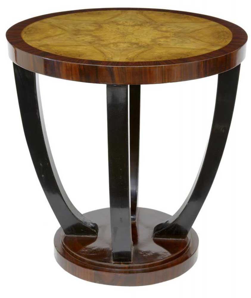 Pair Vintage Art Deco Sofa Tables Side Cocktail Table