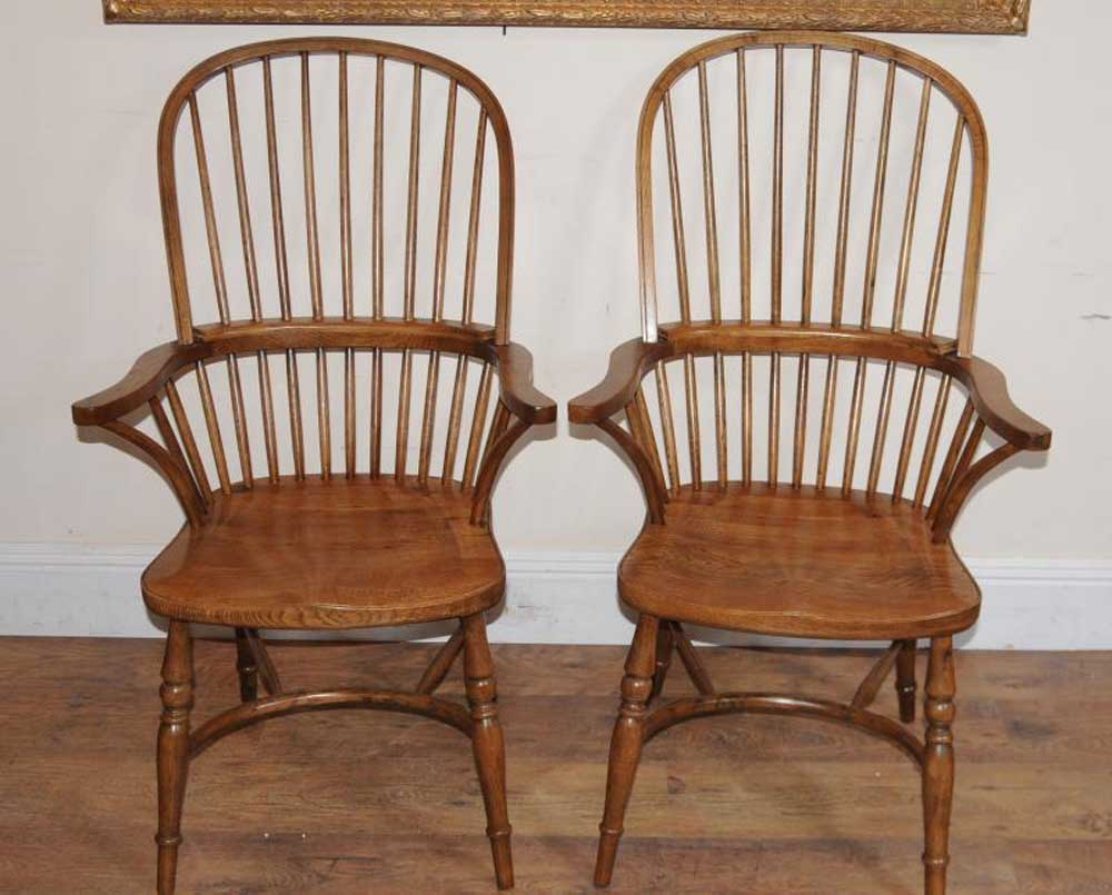 Pair Windsor Dining Arm Chairs Windsors Armchairs Ebay