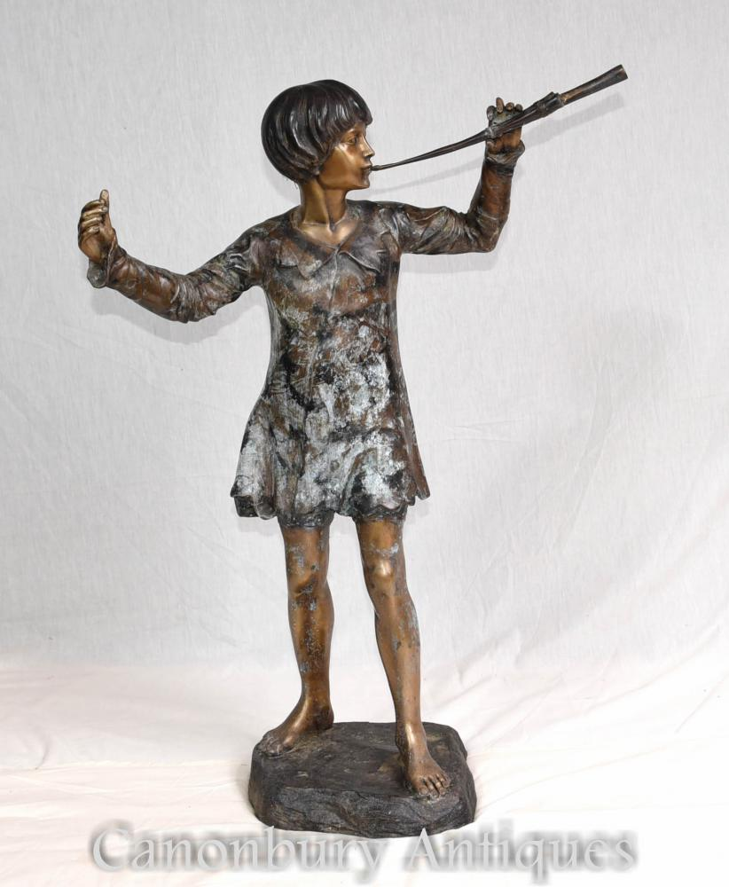 Peter Pan Bronze Figurine 3 Feet Jm Barrie Statue Ebay