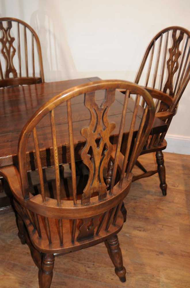 Refectory Table Windsor Chair Kitchen Dining Set
