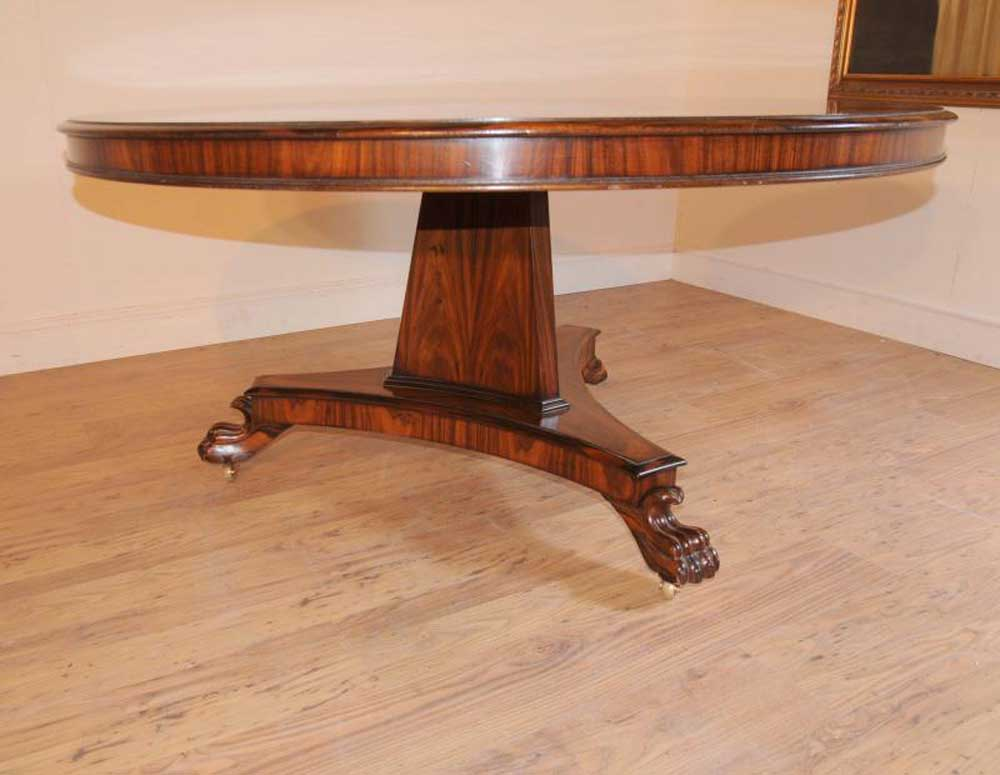 Regency Rosewood Round Dining Table Centre Tables Furniture : regency rosewood round dining table centre tables furniture 1330916088 product 5 from www.canonburyantiques.com size 1000 x 775 jpeg 61kB