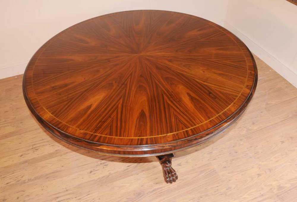 Regency Rosewood Round Dining Table Centre Tables  : regency rosewood round dining table centre tables furniture 1330917068 product 2 from www.ebay.co.uk size 1000 x 681 jpeg 63kB