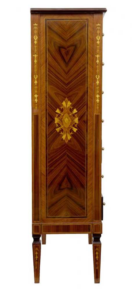 Regency Sheraton Chest Drawers English Furniture Marquetry