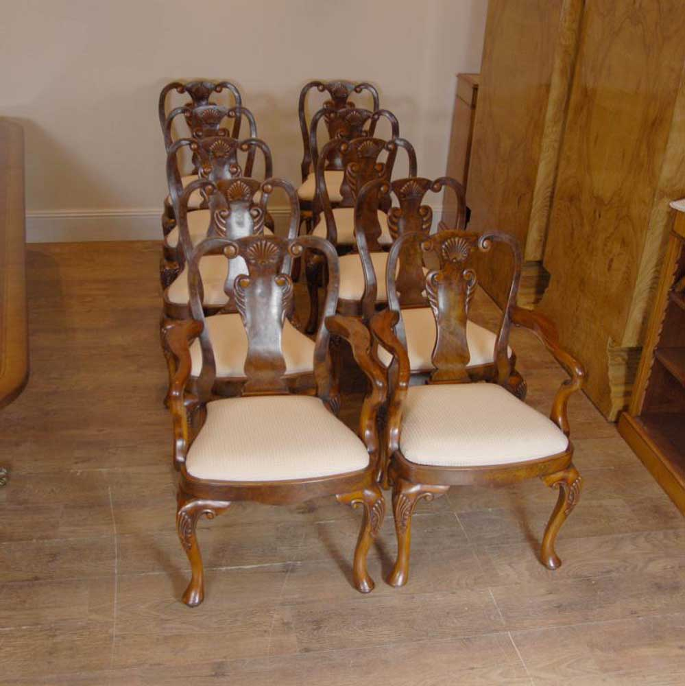 Queen Anne Dining Room Chairs: 10 Ft Regency Pedestal Dining Table And Queen Anne Chairs