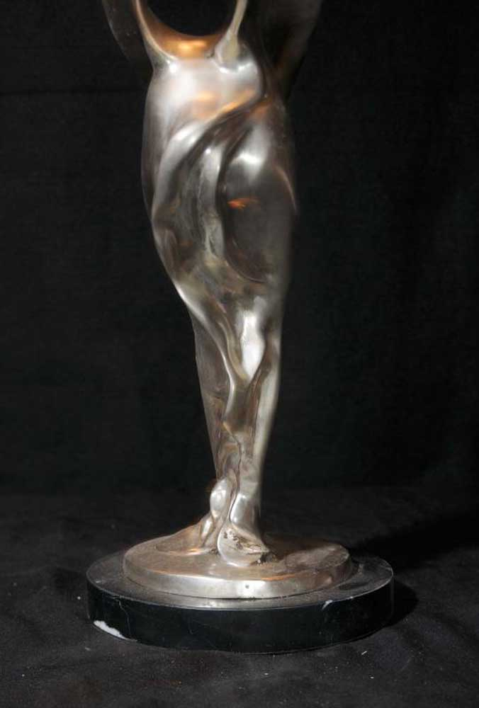 Rolls Royce Bronze Flying Lady Figurine Charles Sykes Deco