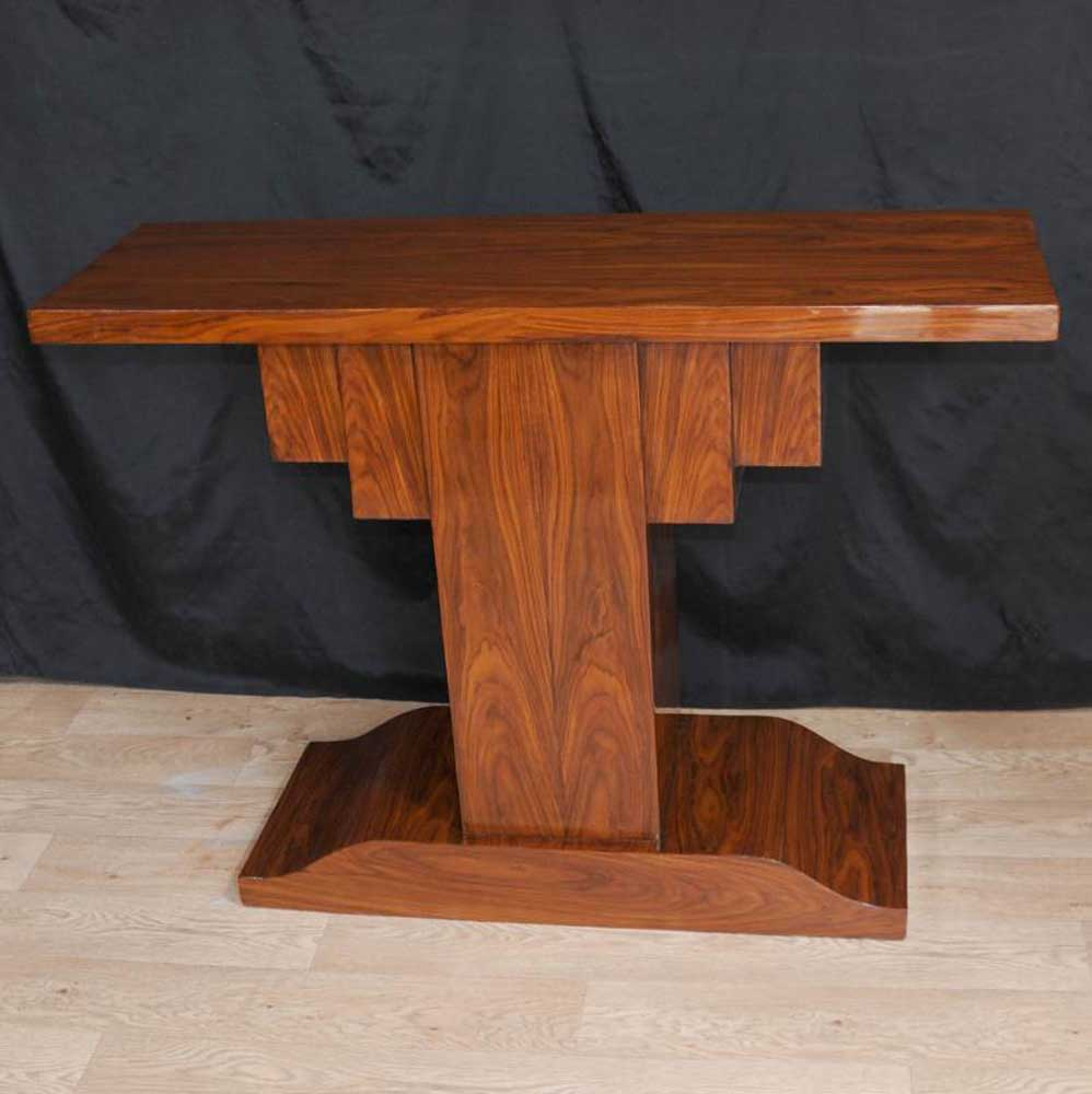 Rosewood Art Deco Modernist Console Table 1920s Furniture