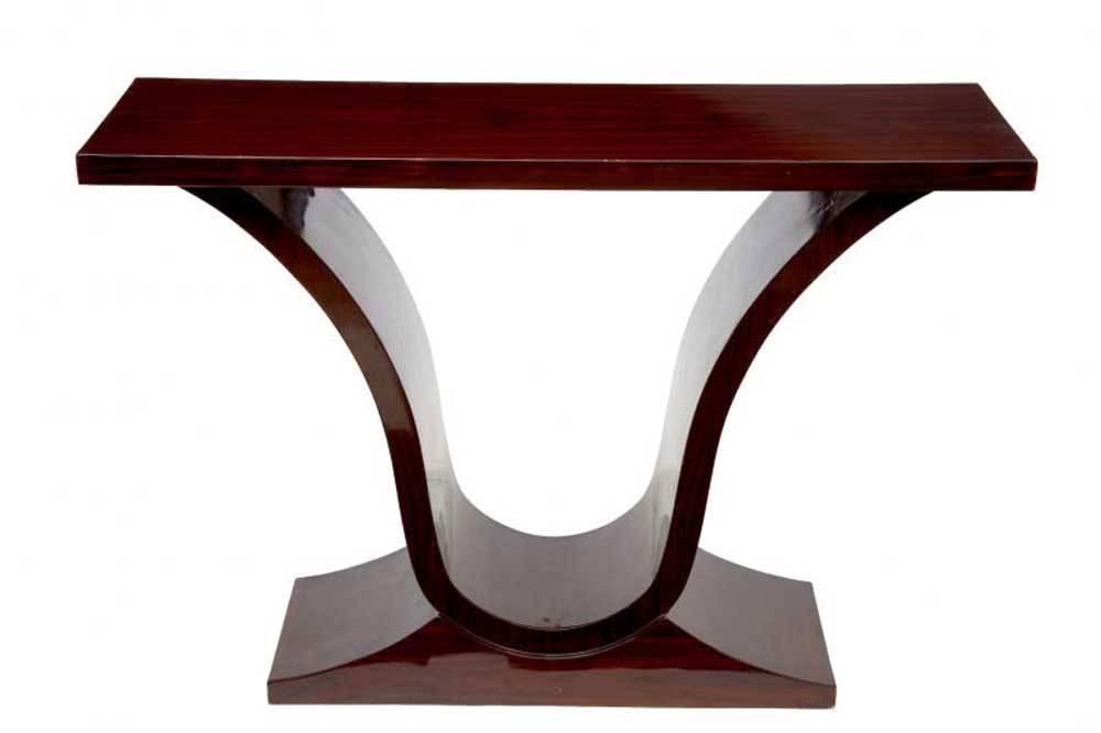Rosewood oggee art deco console table hall tables furniture - Table de nuit art deco ...