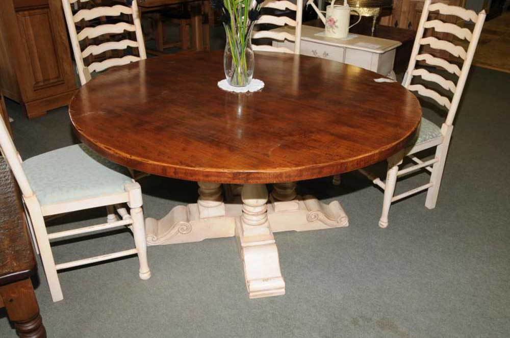 Painted Round Dining Table
