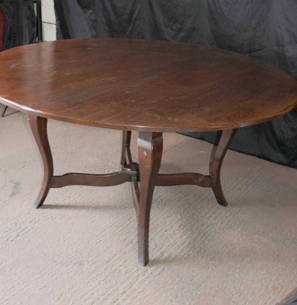 Round Kitchen Dining Table Cherry Wood Farmhouse