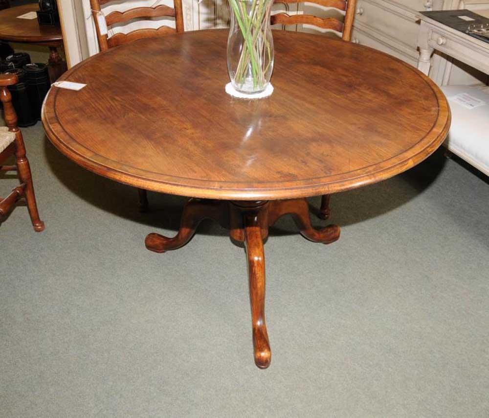 Round oak farmhouse dining table english furniture ebay for Large round farmhouse dining table