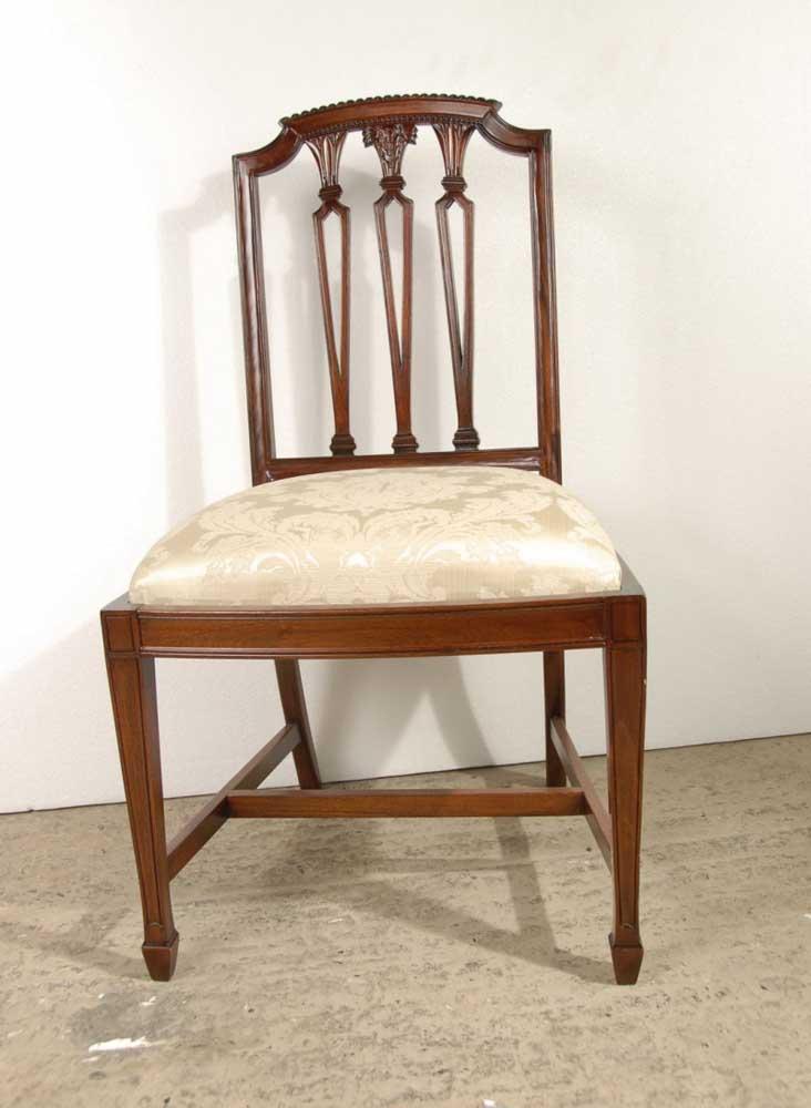 Set 10 Hepplewhite English Mahogany Dining Chairs