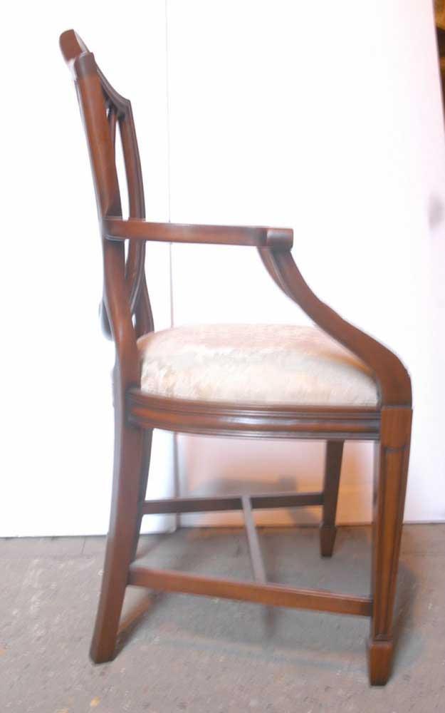 Set 10 Hepplewhite English Mahogany Dining Chairs Chair