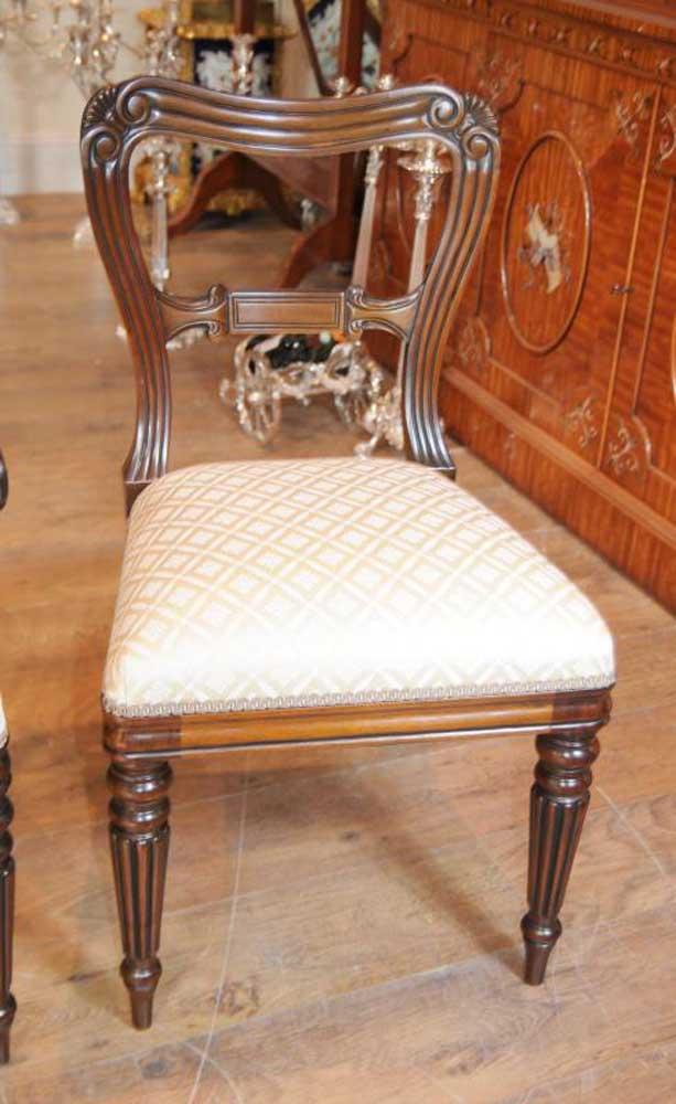 Set 10 Regency Mahogany Dining Chairs