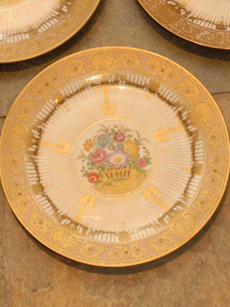 Set 5 Jp Limoges Porcelain Plates Gt France Ceramic