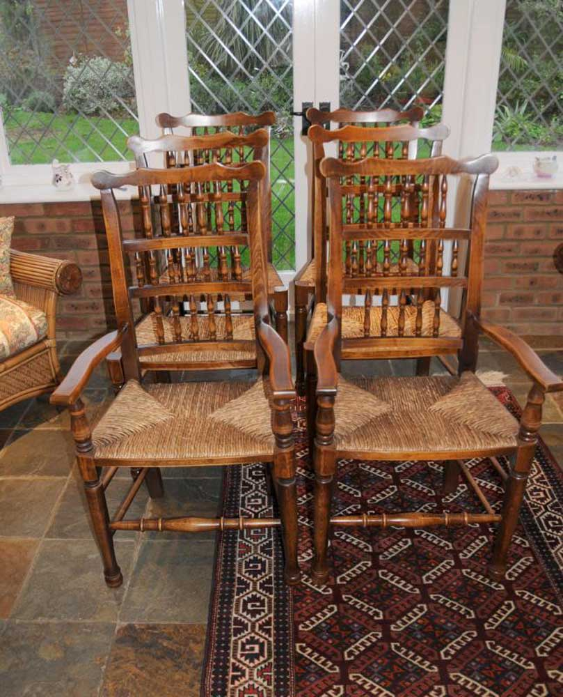 - Oak Kitchen Chairs - Spindleback Dining Chair Set Of 6 EBay