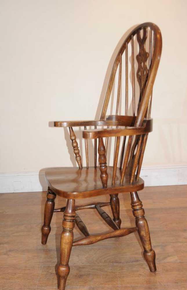 Windsor Arm Chairs ~ Set windsor arm chairs armchairs oak farmhouse ebay