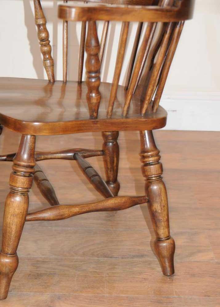 Set windsor arm chairs armchairs oak farmhouse ebay