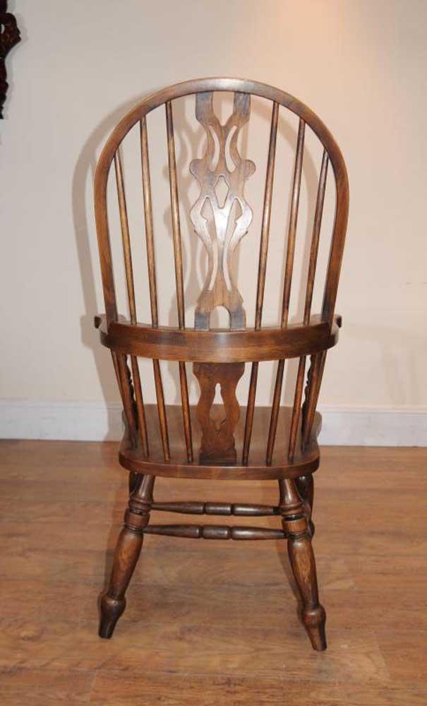 Windsor Arm Chairs ~ Set windsor arm chairs armchairs oak farmhouse