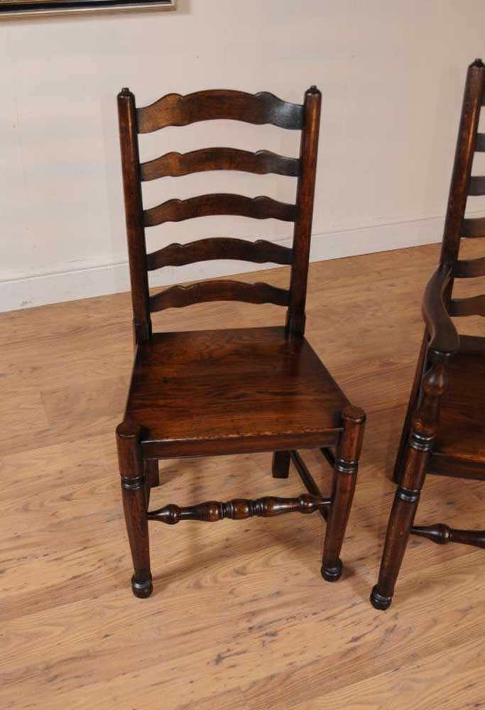 Oak Ladder Back Dining Chairs