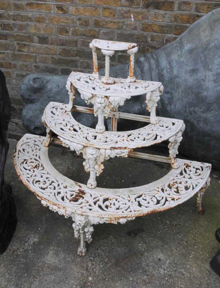 Victorian Coalbrookdale Cast Iron Planter Plant Stand Holder