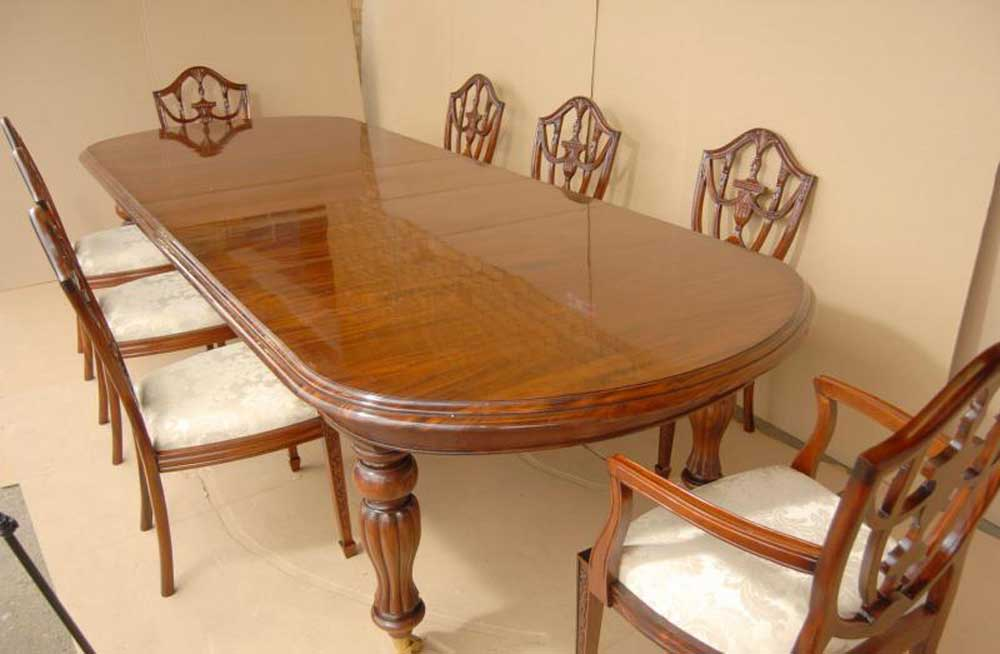 Victorian Dining Set Table Amp Adams Mahogany Chairs Suite